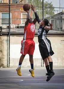 Korinne Campbell, Jasmine Jones West 4th Street Women's Pro Classic NYC: Big East Ballers (Red) 77 v Down The Hatch (Black) 61, William F. Passannante Ballfield, New York, NY, July 7, 2012