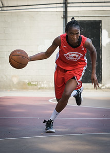 Shenneika Smith West 4th Street Women's Pro Classic NYC: Big East Ballers (Red) 77 v Down The Hatch (Black) 61, William F. Passannante Ballfield, New York, NY, July 7, 2012