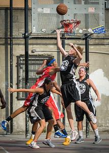 Amanda Buraskowski, Meghan Mahoney, Nailah Cherry, Kerri White West 4th Street Women's Pro Classic NYC: Big East Ballers (Red) 77 v Down The Hatch (Black) 61, William F. Passannante Ballfield, New York, NY, July 7, 2012