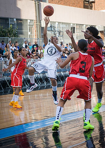 Shorty Reed NIke Women's Challenge: West 4th St. All Stars (White) v Uptown Challenge (Red), Rivington Court, New York, NY. July 25, 2012.