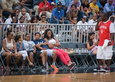 Kia Vaughn NIke Women's Challenge: West 4th St. All Stars (White) v Uptown Challenge (Red), Rivington Court, New York, NY. July 25, 2012.