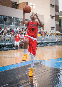 Cherise George NIke Women's Challenge: West 4th St. All Stars (White) v Uptown Challenge (Red), Rivington Court, New York, NY. July 25, 2012.