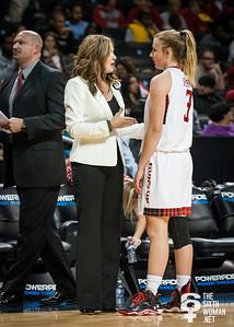Texas Tech head coach Candi Whitaker, Minta Spears