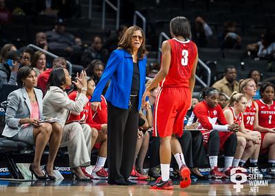 Rutgers head coach C. Vivian Stringer, Tyler Scaife