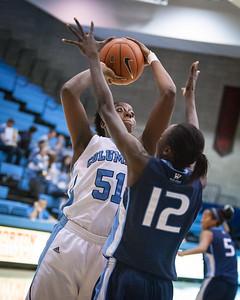 (NCAA Women's Basketball: Columbia Lions 32 v. San Diego Toreros 54, Levien Gymnasium, Columbia University, New York, NY. December 1, 2011)