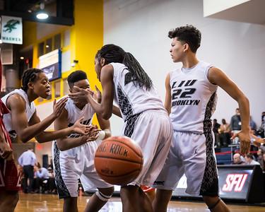 (NCAA Women's Basketball: LIU Brooklyn Blackbirds 84 v St. Francis University (PA) Red Flash 79, Steinberg Wellness Center, Brooklyn, NY. February 7, 2015)