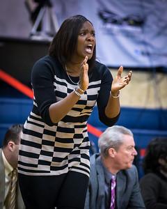 Rhode Island head coach Daynia La-Force