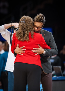 Head coaches C. Vivian Stringer and Teresa Weatherspoon shared an extended hug after the game.