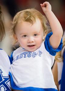 A very young Kentucky fan.
