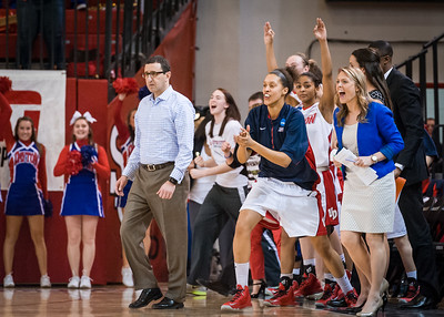 (NCAA Women's Basketball: Division 1 Tournament First Round, #7 Dayton Flyers 96 vs. #10 St. John's Red Storm 90 2OT, Carnesecca Arena, St. John's University, Queens, NY. March 24, 2013)