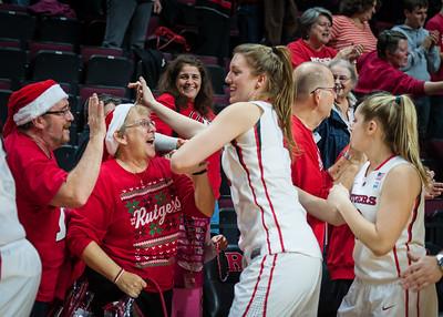 Christa Evans, Alex Alfano, Rutgers Fans