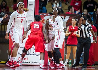 (NCAA Women's Basketball: Rutgers Scarlet Knights 61 v Georgia Bulldogs 58, Louis Brown Athletic Center, Piscataway, NJ. December 21, 2013.)