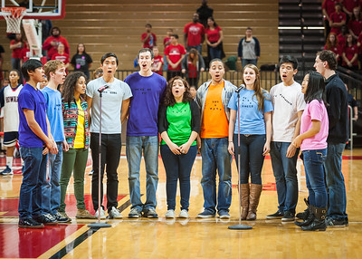 The OrphanSporks sing the National Anthem