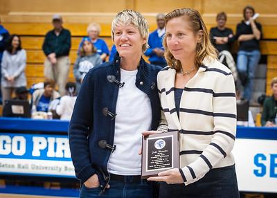 Jodi Brooks, Sr. Assoc. Athletics Direcor Kimberly Keenan-Kirkpatrick; 20th Anniversary Celebration of 1993-1994 Sweet 16 Team