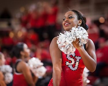 St. John's cheerleader