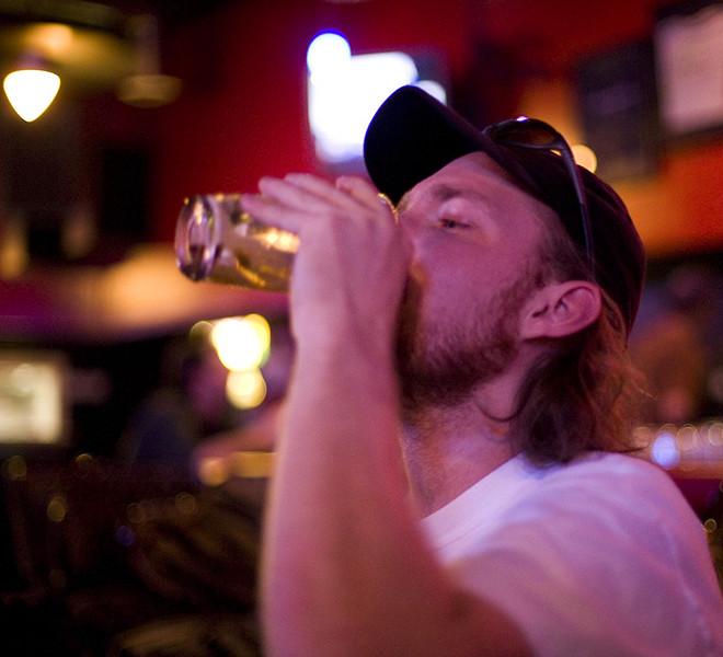 Bill drinking Irish car bomb