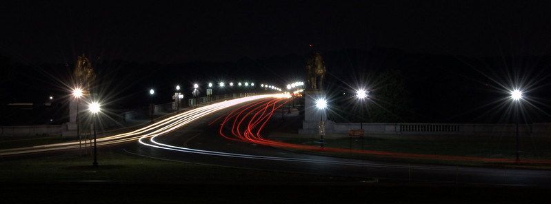 Cars on the Arlington Memorial Bridge