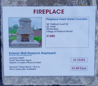 "Outdoor fireplace with 36"" insert- shorter height"
