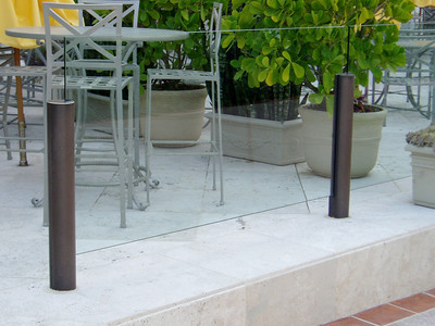 Fencing with glass panels