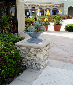 dry-stack stone columns