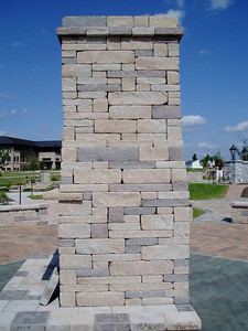 Outdoor fireplace- tall height