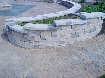 Hanover chapel stone sitting wall