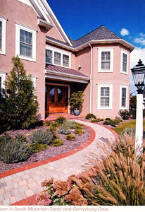Tumbled Prest Brick in the mixed pattern  Hanover Architectural Products 717-637-0500