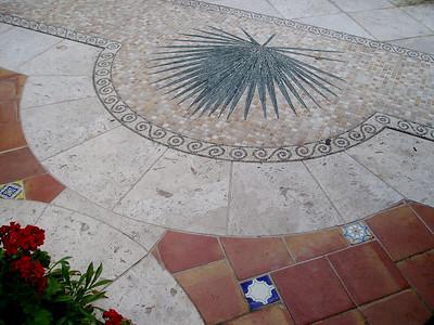 Palm frond mosaic