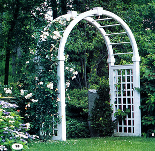 Sheffield Arbor with Radius Arch Walpole Woodworkers 800-343-6948