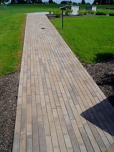 Hanover plank stone walkway