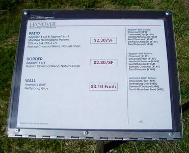 Hanover column & sitting wall information