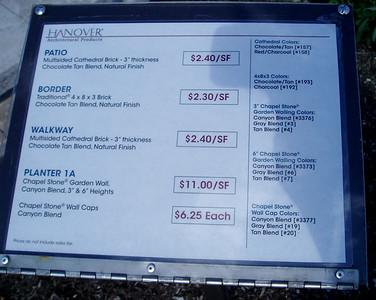 Hanover Chapel stone wall information