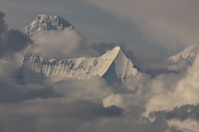 Himalayan peak Nanda Devi as seen from Binsar
