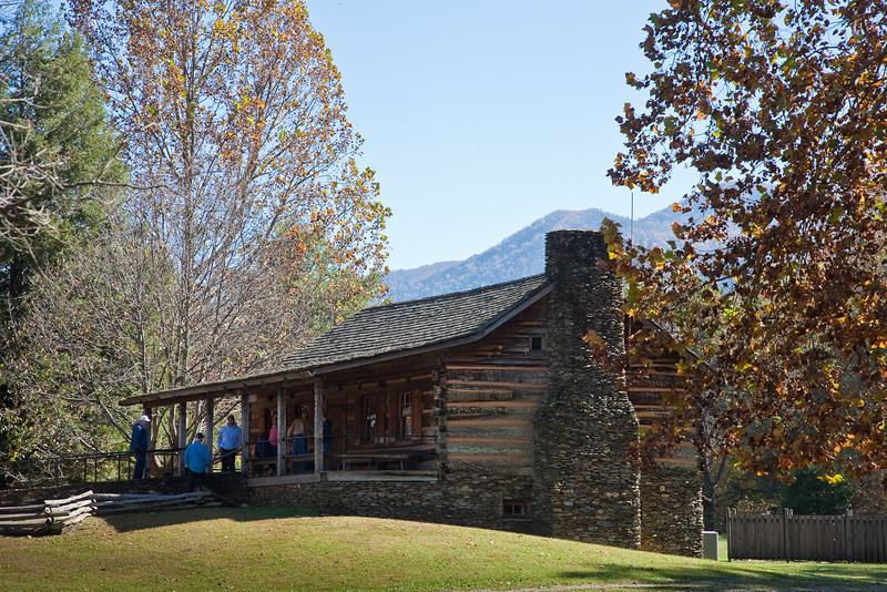 Log cabin aka Visitor Center, Cades Cove