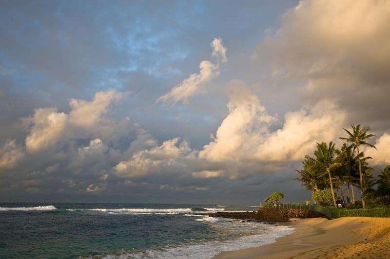 Morning light at Poipu Beach, Kaua'i