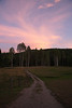 Sunset, Yaak River Lodge