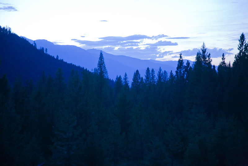 Twilight from Moose Ridge near Libby