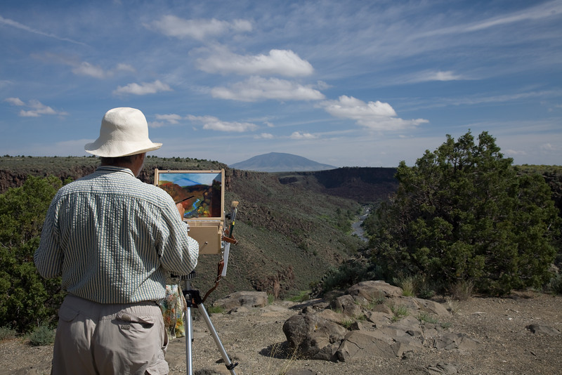 Artist painting Rio Grande