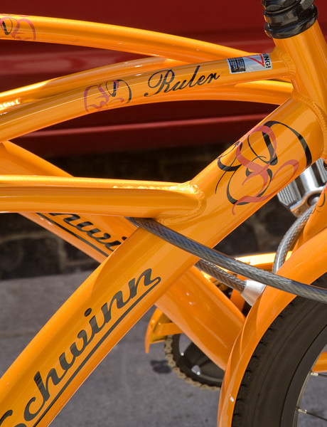 Orange bicycles