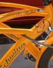 Orange bicycles