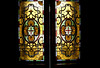 Beaumont Hotel stained glass doors