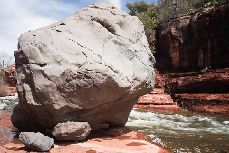 Boulder, Slide Rock State Park, Oak Creek Canyon