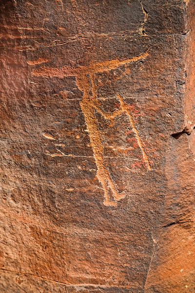 """Surfer Dude"" Petroglyph, Red Tank Draw"