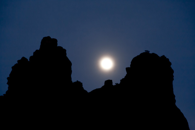 Moon over Bell Rock