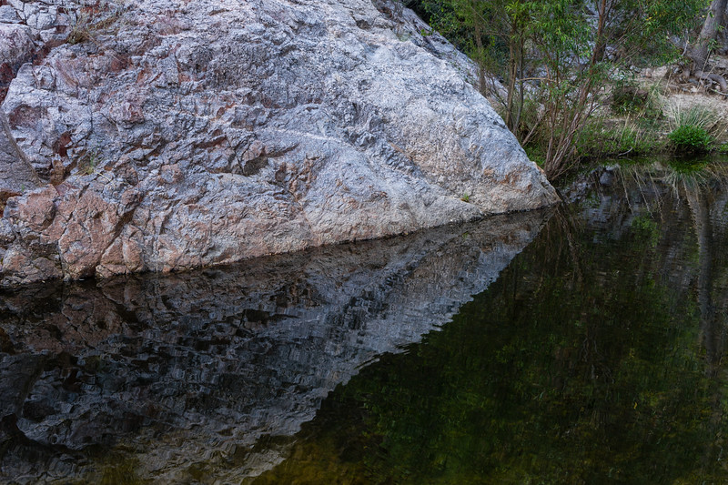 Reflected rock, Sabino Creek