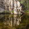 Reflected rock, Sabino Creek