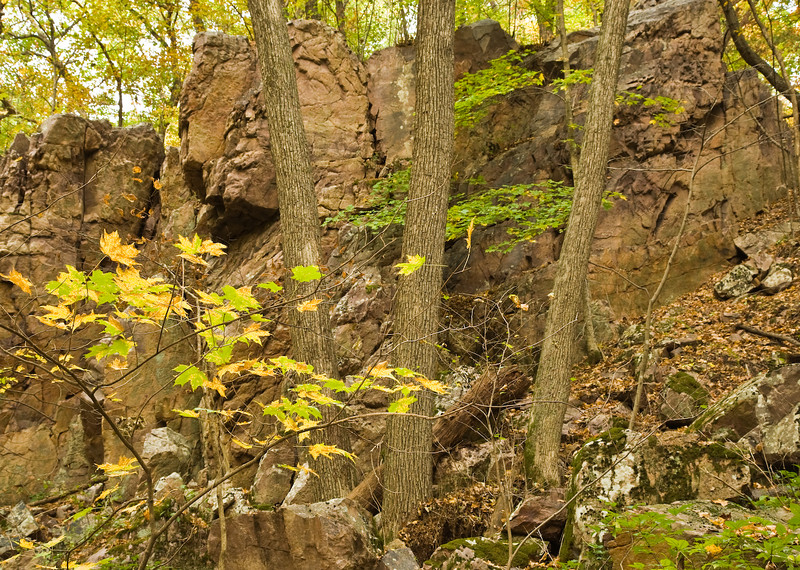 Quartzite outcrop, Hemlock Draw