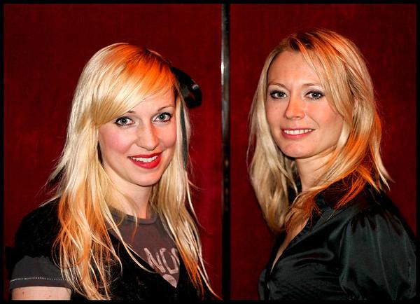 Stephanie Dosen and Fiona Brice at Soho Revue Bar, London.