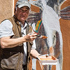 Burro Alley painter, Santa Fe