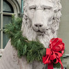 Lion guarding entrance